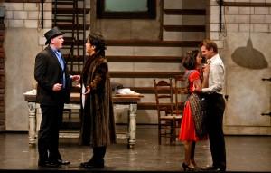 Adam Fry as Don Magnifico, Muesop Kim as Dandini, Karin Mushegain as Angelina, Joshua Whitener as Don Ramiro