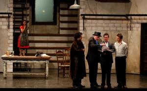 Muesop Kim as Dandini, Adam Fry as Don Magnifico, Damien Pass as Alidoro, Joshua Whitener as Don Ramiro