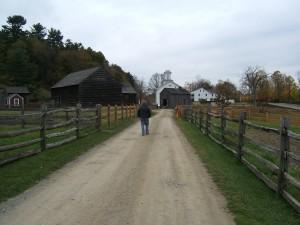 Abby on her way to meet Farmer Rick and Farmer Wayne