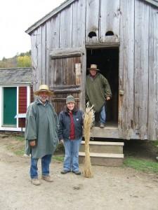 L to R: Farmer Rick, Abby and Farmer Wayne
