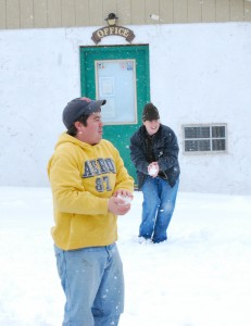 Snowball fights ensued.