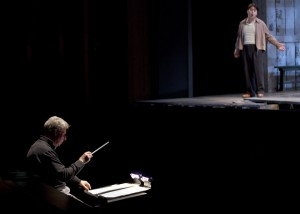 """Karli captured this photo of conductor Stewart Robertson and Young American Artist Andrew Stenson during rehearsal for """"The Tender Land."""""""