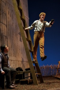 Joseph Barron as Grandpa Moss and Mark Diamond as Top in Glimmerglass Opera's 2010 production of The Tender Land. Photo: Claire McAdams/Glimmerglass Opera.