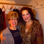 Judy Brick Freedman with Young Artist alum Jill Gardner in the Schubert Theatre dressing room after Boston Lyric Opera's Tosca, in which Jill sang the title role. Sunday, November 14, 2010