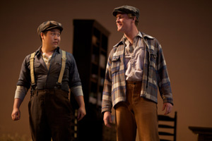 "L to R: Andrew Stenson and Mark Diamond in Glimmerglass's 2010 production of ""The Tender Land."" Photo: Claire McAdams."