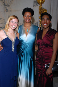 Young Artists Lindsay Russell (left) and J'nai Bridges with Sakura Myers (center).