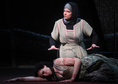Sarah Larsen as Neris in Medea.